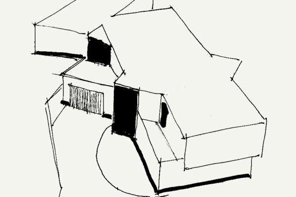 Miami Beach House Sketch